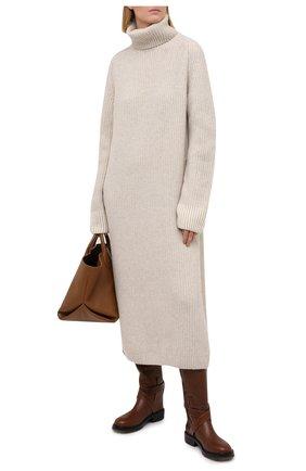Женское кашемировое платье LORO PIANA светло-бежевого цвета, арт. FAL3306 | Фото 2