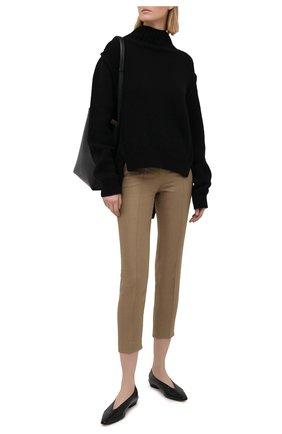 Женские льняные брюки LORO PIANA коричневого цвета, арт. FAL1221 | Фото 2