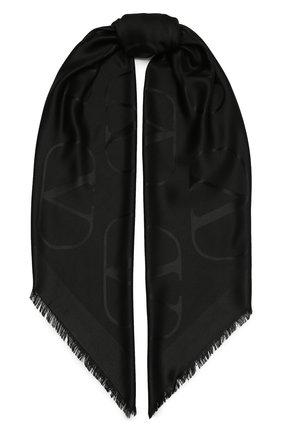 Женская шаль  VALENTINO черного цвета, арт. VW2EB104/AJB   Фото 1