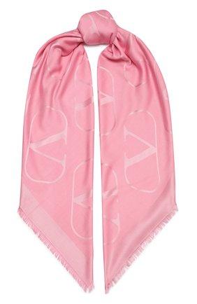 Женская шаль  VALENTINO розового цвета, арт. VW2EB104/AJB   Фото 1