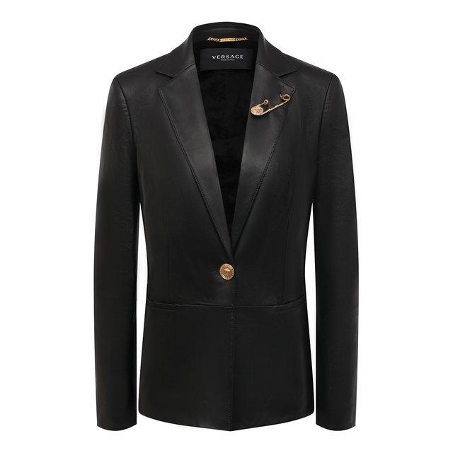 Кожаный жакет Versace