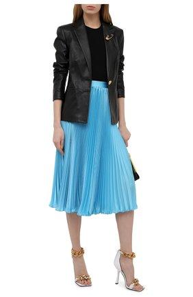 Женский кожаный жакет VERSACE черного цвета, арт. A85481/A210037 | Фото 2