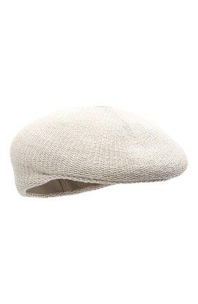 Женская кепи LORENA ANTONIAZZI светло-серого цвета, арт. P2188CE001/1329 | Фото 1 (Материал: Текстиль, Хлопок)