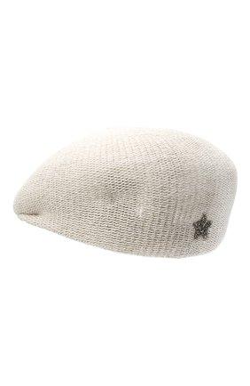 Женская кепи LORENA ANTONIAZZI светло-серого цвета, арт. P2188CE001/1329 | Фото 2 (Материал: Текстиль, Хлопок)