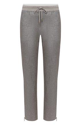 Женские брюки из вискозы и льна LORENA ANTONIAZZI бежевого цвета, арт. P2117PA032/3377 | Фото 1