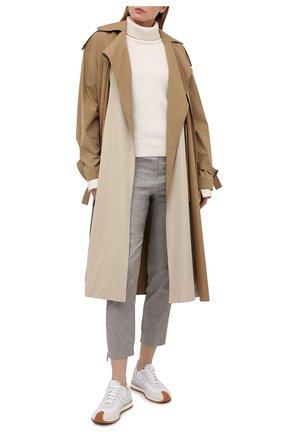 Женские брюки из вискозы и льна LORENA ANTONIAZZI бежевого цвета, арт. P2117PA032/3377 | Фото 2