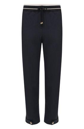 Женские шерстяные брюки LORENA ANTONIAZZI темно-синего цвета, арт. P2108PA047/3180   Фото 1