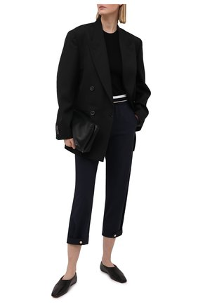 Женские шерстяные брюки LORENA ANTONIAZZI темно-синего цвета, арт. P2108PA047/3180   Фото 2
