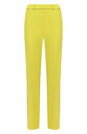 Женские шерстяные брюки LORENA ANTONIAZZI желтого цвета, арт. P2108PA009/3180 | Фото 1