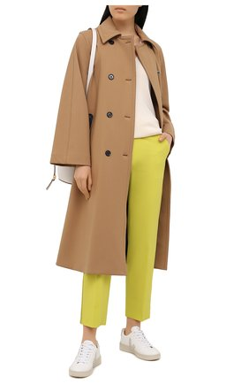 Женские шерстяные брюки LORENA ANTONIAZZI желтого цвета, арт. P2108PA009/3180 | Фото 2