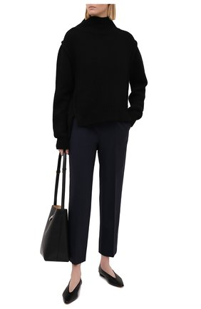 Женские шерстяные брюки LORENA ANTONIAZZI темно-синего цвета, арт. P2108PA009/3180   Фото 2