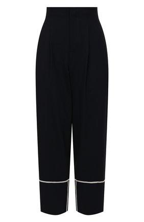 Женские шерстяные брюки LORENA ANTONIAZZI темно-синего цвета, арт. P2108PA003/3180 | Фото 1