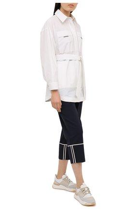 Женские шерстяные брюки LORENA ANTONIAZZI темно-синего цвета, арт. P2108PA003/3180 | Фото 2