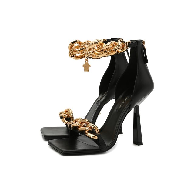 Кожаные босоножки Versace