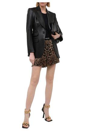 Женские кожаные босоножки VERSACE черного цвета, арт. DST568P/DNA32 | Фото 2 (Подошва: Плоская; Каблук тип: Фигурный; Материал внутренний: Натуральная кожа; Каблук высота: Высокий)