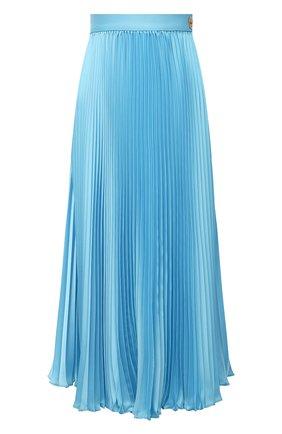 Женская плиссированная юбка VERSACE голубого цвета, арт. A88378/1F00448 | Фото 1