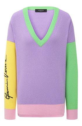 Женский кашемировый пуловер VERSACE разноцветного цвета, арт. A88435/A237524 | Фото 1
