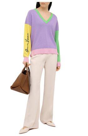 Женский кашемировый пуловер VERSACE разноцветного цвета, арт. A88435/A237524 | Фото 2