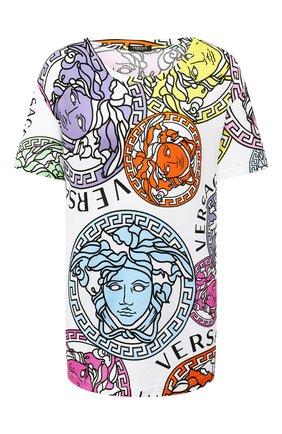 Женская хлопковая футболка VERSACE разноцветного цвета, арт. A88532/1F00404 | Фото 1