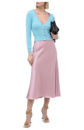 Женский кашемировый кардиган VERSACE голубого цвета, арт. A88599/A237515 | Фото 2