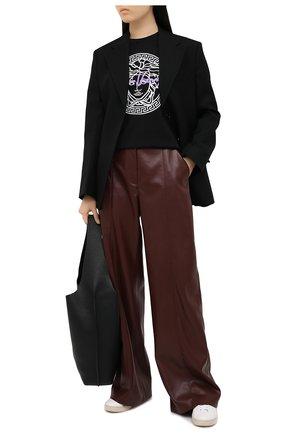 Женская хлопковая футболка VERSACE черного цвета, арт. A88729/A228806 | Фото 2