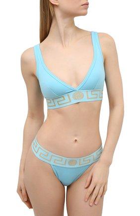 Женский бюстгальтер с мягкой чашкой VERSACE голубого цвета, арт. AUD01047/A232741 | Фото 2