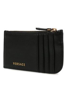 Женский кожаный футляр для кредитных карт VERSACE черного цвета, арт. DP3H333V/D11VIT   Фото 2