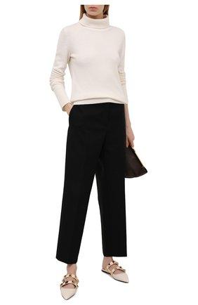 Женские кожаные сабо valentino garavani upstud VALENTINO белого цвета, арт. VW2S0BK8/KET | Фото 2