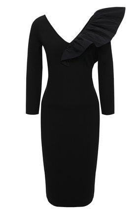 Женское платье из вискозы GIVENCHY черного цвета, арт. BW213G4Z8U | Фото 1