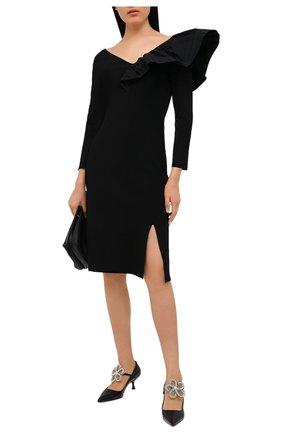 Женское платье из вискозы GIVENCHY черного цвета, арт. BW213G4Z8U | Фото 2