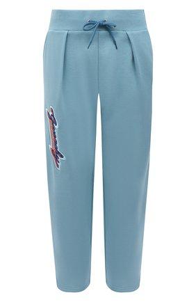 Женские хлопковые брюки GIVENCHY голубого цвета, арт. BW50LQ3Z4V | Фото 1
