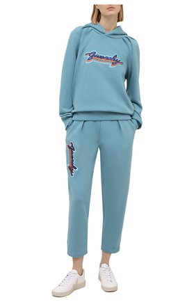 Женские хлопковые брюки GIVENCHY голубого цвета, арт. BW50LQ3Z4V | Фото 2