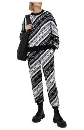 Женские шерстяные джоггеры GIVENCHY черного цвета, арт. BW50PB4Z7J | Фото 2