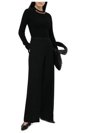 Женский пуловер из шерсти и кашемира GIVENCHY черного цвета, арт. BW90C74Z8R | Фото 2