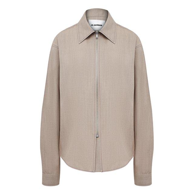 Шерстяная рубашка Jil Sander