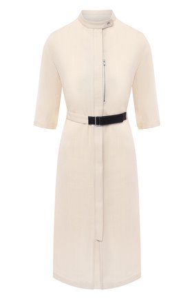 Женское платье из вискозы и шелка JIL SANDER кремвого цвета, арт. JSPS501426-WS390300 | Фото 1