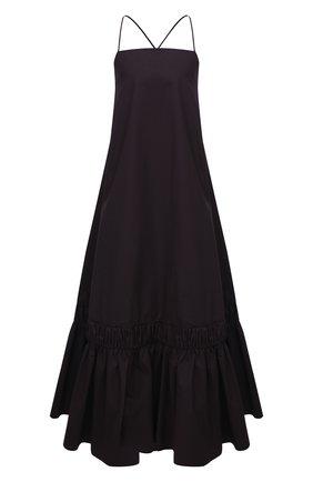 Женское хлопковое платье JIL SANDER коричневого цвета, арт. JSPS500406-WS245100   Фото 1
