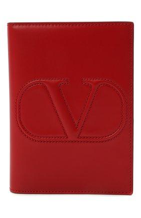 Женские кожаная обложка для паспорта valentino garavani VALENTINO красного цвета, арт. VW2P0V24/QEL   Фото 1