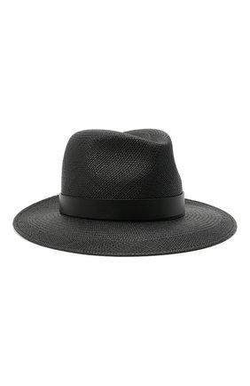 Женская соломенная шляпа valentino garavani VALENTINO черного цвета, арт. VW2HAA31/KZN | Фото 1