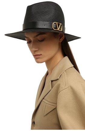 Женская соломенная шляпа valentino garavani VALENTINO черного цвета, арт. VW2HAA31/KZN | Фото 2