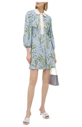 Женское платье из вискозы REDVALENTINO голубого цвета, арт. VR3VAW15/5MQ | Фото 2