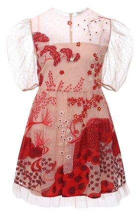 Женское платье REDVALENTINO красного цвета, арт. VR3VA17F/5QM | Фото 1