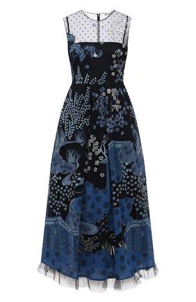 Женское платье REDVALENTINO голубого цвета, арт. VR3VA17E/5QM | Фото 1