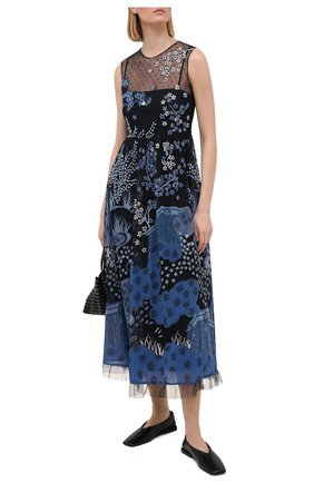Женское платье REDVALENTINO голубого цвета, арт. VR3VA17E/5QM | Фото 2