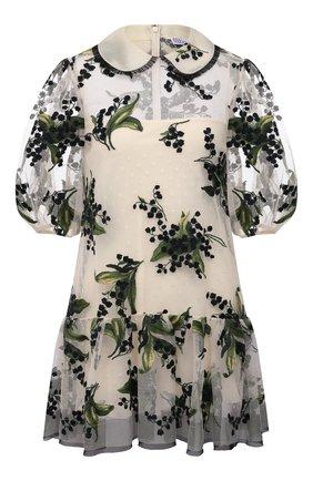 Женское платье REDVALENTINO кремвого цвета, арт. VR3VA16Q/5QP | Фото 1