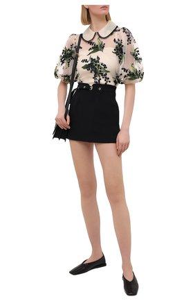 Женская юбка-шорты REDVALENTINO черного цвета, арт. VR3RFE50/2EU | Фото 2