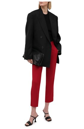 Женские брюки из вискозы и шерсти REDVALENTINO красного цвета, арт. VR3RBD45/WBP | Фото 2