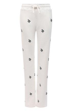 Женские хлопковые брюки REDVALENTINO кремвого цвета, арт. VR3MD01L/5PL | Фото 1