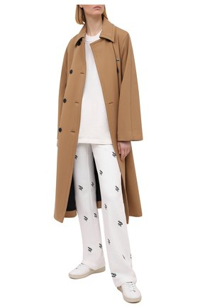 Женские хлопковые брюки REDVALENTINO кремвого цвета, арт. VR3MD01L/5PL | Фото 2