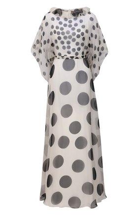 Женское шелковое платье VALENTINO черно-белого цвета, арт. VB3VDBL065P | Фото 1